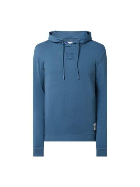 Niebieska bluza z kapturem bawełniana Marc O'polo Denim