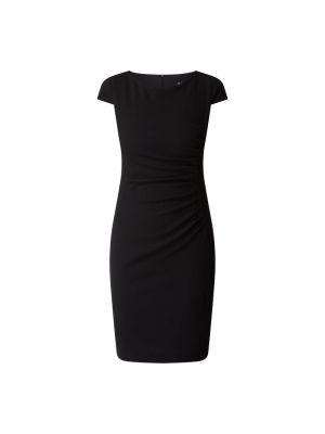 Czarna sukienka mini krótki rękaw Paradi