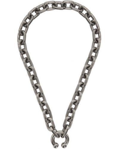 Ожерелье серебряный серый Random Identities