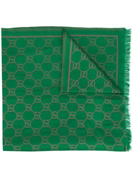 Шерстяная шаль с логотипом Gucci