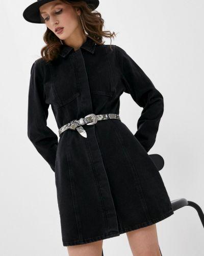 Черное джинсовое платье Missguided