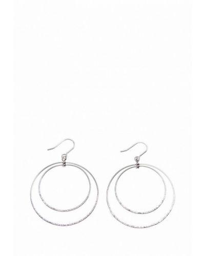Серьги-кольца из серебра Aiyony Macie