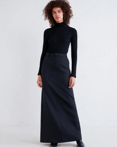 Черная юбка осенняя Mango