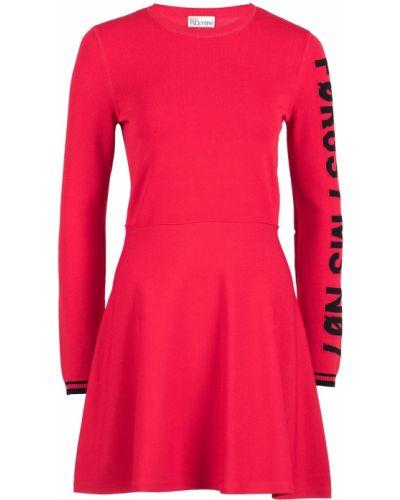 Платье мини в рубчик с вырезом Red Valentino