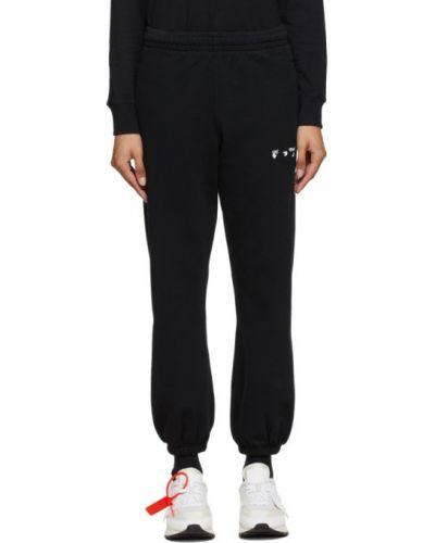 Frotte czarny joggery z kieszeniami z mankietami Off-white