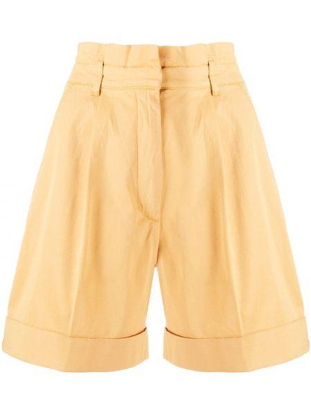 Однобортные желтые шорты с карманами Baum Und Pferdgarten