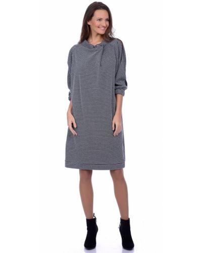 Платье на одно плечо в полоску Lautus