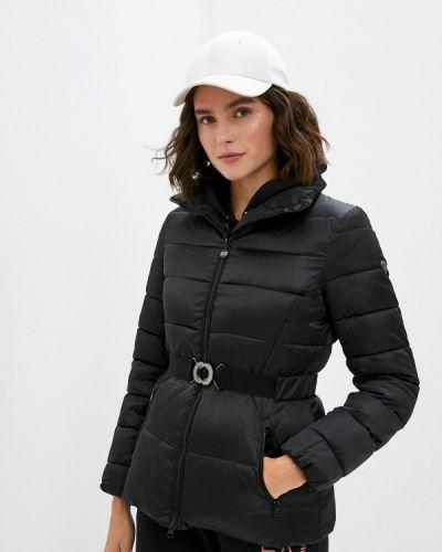 Теплая черная зимняя куртка Ea7