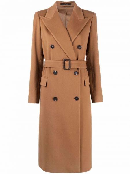Коричневое пальто кэмэл Tagliatore
