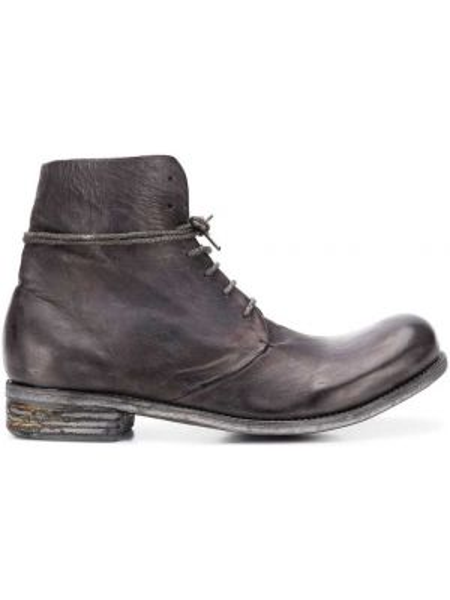 Ankle boots skorzane koronkowe sznurowane A Diciannoveventitre