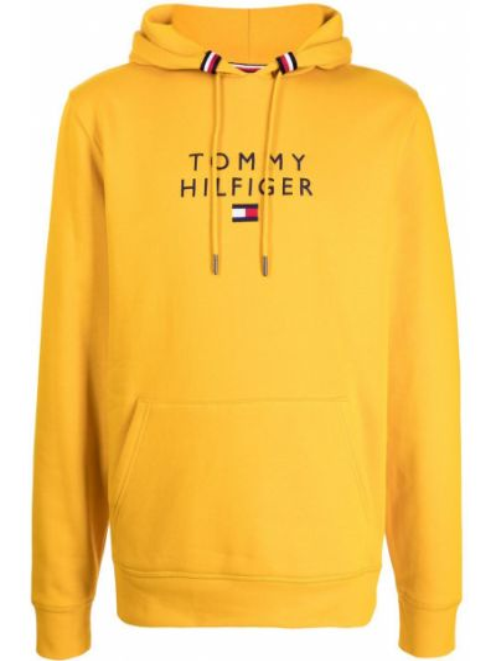 Желтая кофта с принтом Tommy Hilfiger