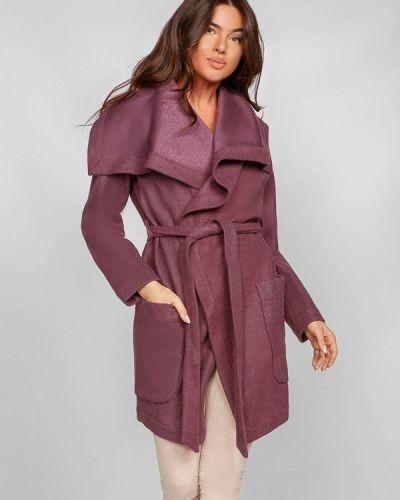 Фиолетовое пальто весеннее Gepur