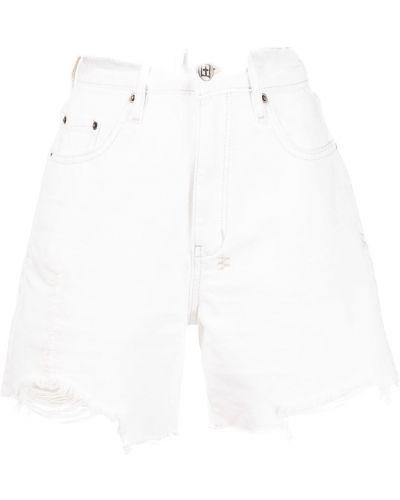 Белые хлопковые шорты Ksubi