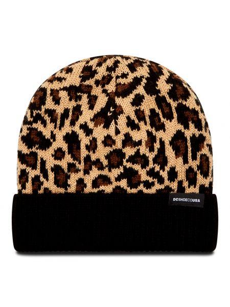 Brązowa czapka z akrylu Dc