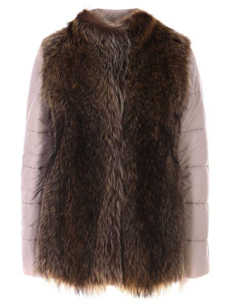Стеганая куртка - бежевая Agnona