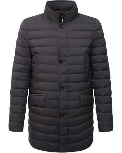 Серая нейлоновая куртка Moorer