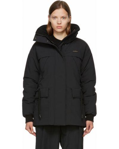 Черная куртка атласная Kanuk
