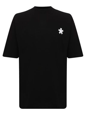 Черная хлопковая футболка Comme Des Fuckdown