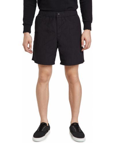 Czarne szorty bawełniane Rag & Bone