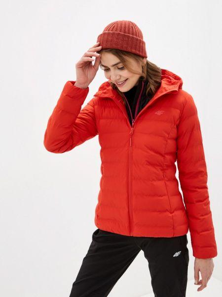 Утепленная куртка весенняя красная 4f