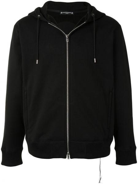 Czarna bluza długa z kapturem z długimi rękawami Mastermind World