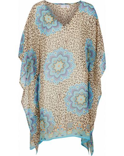 Пляжное синее платье прозрачное Bonprix