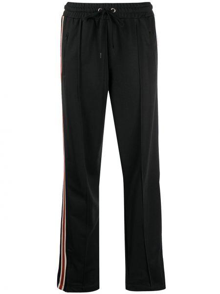 Хлопковые черные спортивные брюки с карманами на молнии Anine Bing