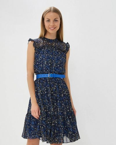 Синее платье осеннее Lusio