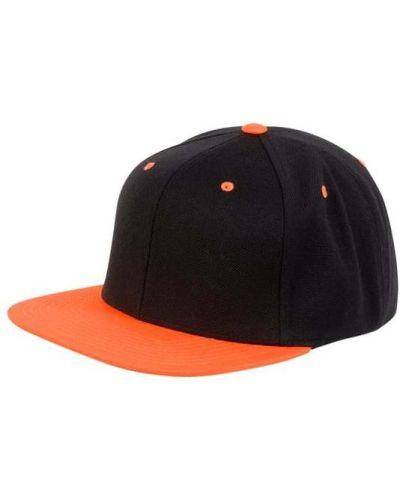 Pomarańczowa czapka z daszkiem wełniana Flex Fit