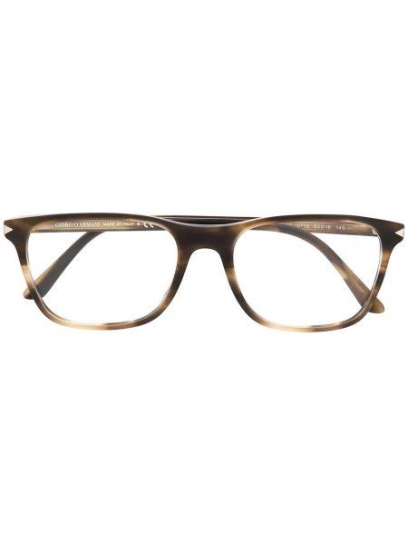 Zielony prosto oprawka do okularów plac Giorgio Armani