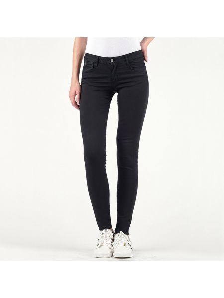 Черные брюки дудочки с воротником с поясом узкого кроя Le Temps Des Cerises