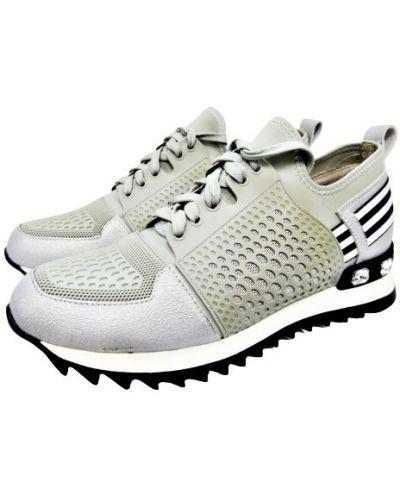 Кожаные кроссовки - серые Saveno