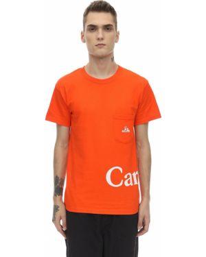 Pomarańczowy t-shirt bawełniany Carrots X Jungle