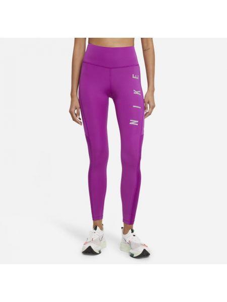 Fioletowe legginsy do biegania Nike