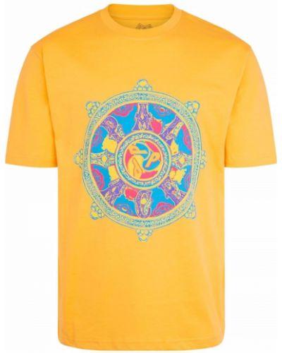 Хлопковая футболка - желтая Palace
