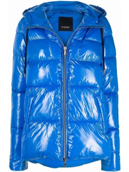 Куртка с капюшоном - синяя Pinko