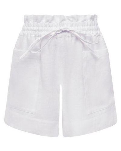 Льняные шорты - белые Tory Burch