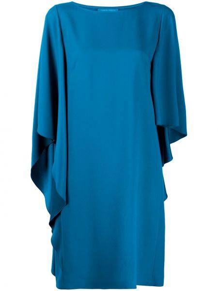 Платье миди до колена - синее Alberta Ferretti