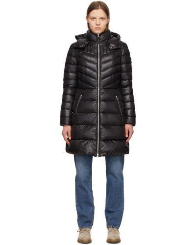 Пуховое длинное пальто с капюшоном для полных Mackage