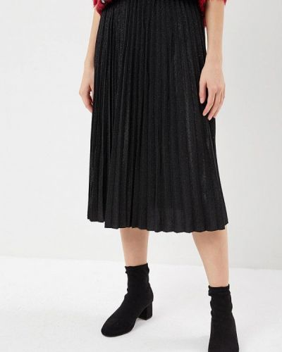 Плиссированная юбка черная Zarina