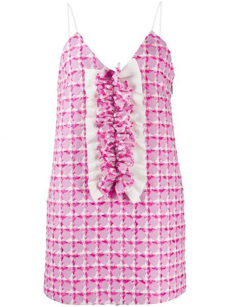 Платье с V-образным вырезом с рукавами Msgm