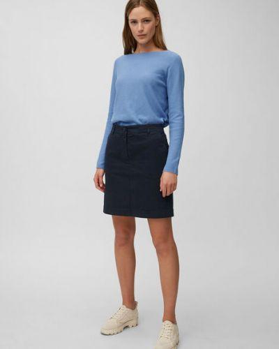 Klasyczna niebieska spódnica mini bawełniana Marc O Polo