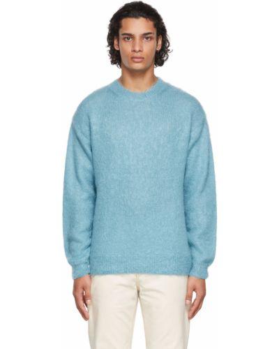 Sweter wełniany - niebieski Auralee