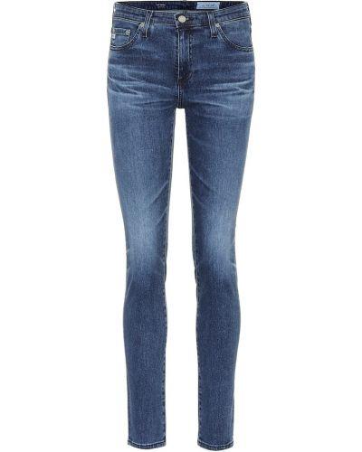 Zawężony bawełna bawełna niebieski obcisłe dżinsy Ag Jeans