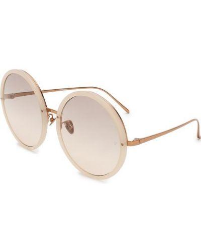 Бежевые солнцезащитные очки Linda Farrow