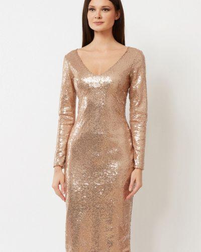 Вечернее платье осеннее золотой A.karina