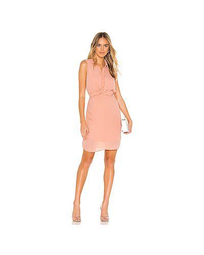 Платье с поясом на пуговицах персиковое Krisa