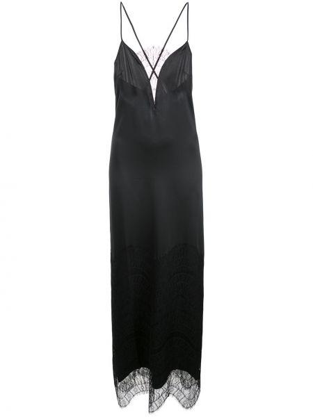 Шелковое тонкое вечернее платье на бретелях со вставками Kiki De Montparnasse