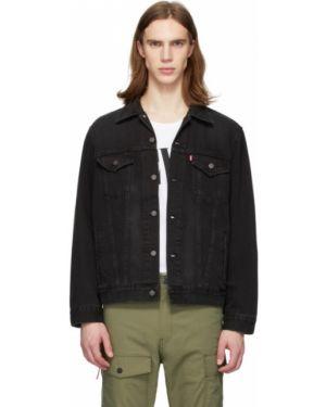 Джинсовая куртка черная длинная Levi's®