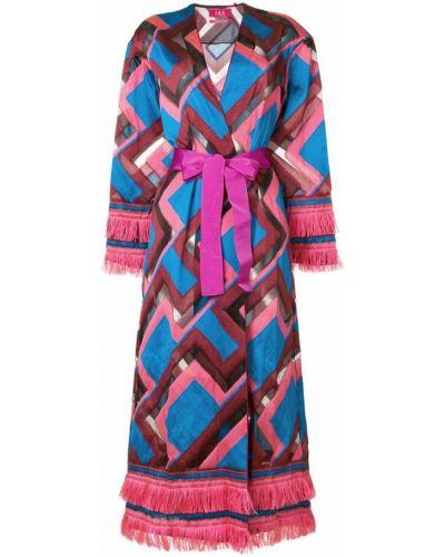 Розовое пальто с капюшоном F.r.s For Restless Sleepers